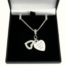 Heart Pendants Necklace with Engraving